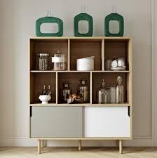 oak finish storage cabinet temahome dann modern storage cabinet oak finish grey and white