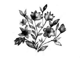 beautiful black vintage flower temporary tattoo mytat com