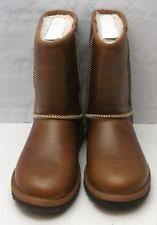 ugg australia noira chestnut sheepskin ugg australia s noira suede leather waterproof boot size 6