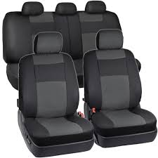 lexus rx300 leather seat covers synthetic leather car seat covers black charcoal gray full set
