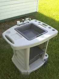 Portable Outdoor Sink Garden Camp Kitchen Camping RV New  For - Portable kitchen sinks