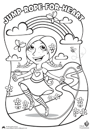 jump heart coloring pages 425095