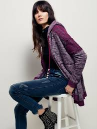 free people womens venice beach cardi in purple lyst