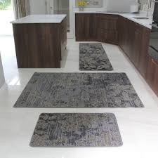 Brown Kitchen Rugs Brown Rubber Backed Modern Kitchen Rug Flat Weave Easy Clean