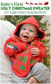 title u003e diy baby u0027s first ugly christmas sweater u003c title u003e sew woodsy