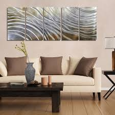 sculpture home decor gold silver u0026 pecan modern metal wall art contemporary wall