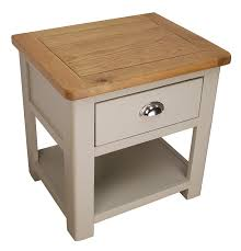 Oak Side Table Aspen Painted Oak Grey L Table Solid 1 Drawer Side End