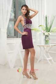 dark purple cocktail dress with open back purple cocktail dresses