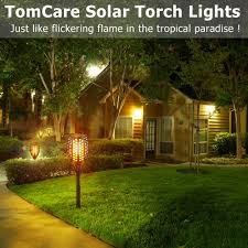 Lights Flickering In Whole House Amazon Com Tomcare Solar Lights Waterproof Flickering Flames