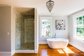 bathroom wood floor simply elegant bath marble tub surround white wood painted floors unique home design