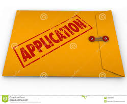 submit application yellow envelope submit apply job credit approval stock