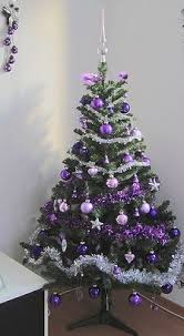 purple and silver and gold tree decorationschristmas