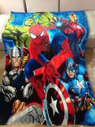 160cmx200cm avengers coral fleece blanket super hero spiderman