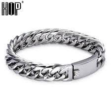 tag bracelet images Buy hip mens id tag bracelet biker high polish jpg