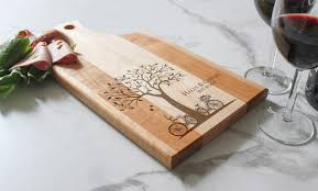 cutting board wedding gift personalized cutting board customized cheese board maple paddle