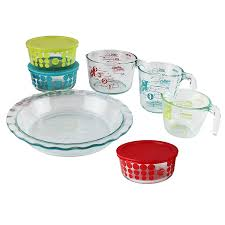 pyrex 100 year 10 piece vintage future glass bakeware and food