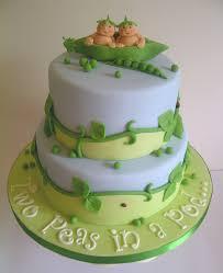 two peas in a pod twin baby shower cake by cakeycake cakeycake