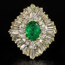 fine emerald rings images 3 carat vvs diamond 1ct oval emerald retro vintage ballerina jpg