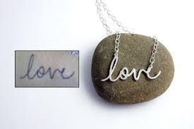 custom handwriting necklace custom handwriting necklaces
