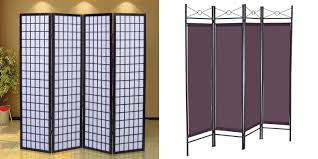 metal based folding wall divider with acrylic screen of