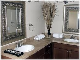 cherry wood bathroom mirror brown bathroom decoration using square metal silver framed