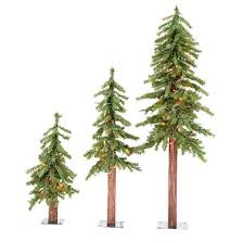 vickerman 2ft 3ft 4ft pre lit artificial christmas tree set