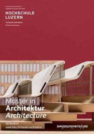 master architektur studienführer master architektur 2018 2019 by hochschule luzern