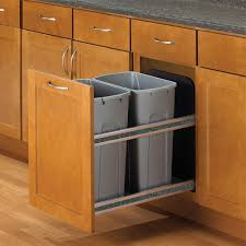 white pull out trash cans kitchen cabinet organizers the