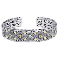cuff bracelet with stone images Phillip gavriel byzantine multi stone cuff bracelet in sterling jpg