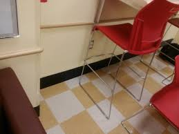 add some style to checkerboard vinyl floor tiles with