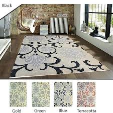 Modern Indoor Outdoor Rugs 5 8 Indoor Outdoor Rug Mind Boggling Black Gold Green Blue