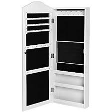 Jewellery Organiser Cabinet Hartleys White Wall Mounted Mirror U0026 Jewellery Organiser Cabinet