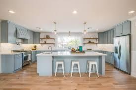 Blue Kitchens With White Cabinets Brass Blue White Kitchen Design Ideas
