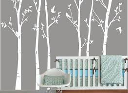 Vinyl Wall Decals For Nursery Tree Wall Decal Vinyl Wall Decals White Tree Leaves By White Tree