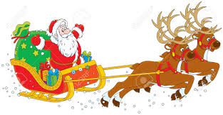 sleigh of santa claus royalty free cliparts vectors and stock