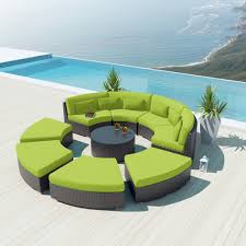 Cushion Covers For Patio Furniture - outdoor sectional sofa black finish resin wicker patio furniture