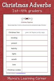 Free Printable Christmas Worksheets Christmas Adjectives Worksheet Mamas Learning Corner