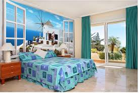 3d Wallpaper For Bedroom by Custom Any Size Santorini Island 3d Tv Backdrop Mural 3d Wallpaper