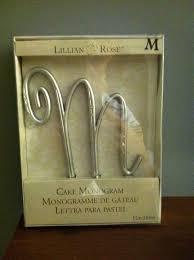 lillian cake topper lillian monogram m cake topper tradesy