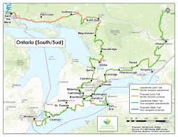 Map Of Toronto Canada by Trans Canada Trail Ontario Maps