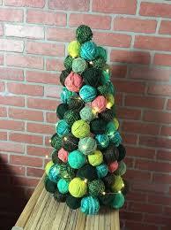 yarn ball ornament tree hometalk