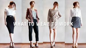 Office Work Images What To Wear To Work Office Wear Workwear Lookbook Youtube