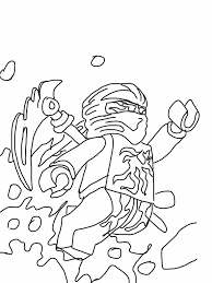 coloring page with cole from the popular lego ninjago series drawn