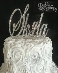 rhinestone number cake toppers monogram cake toppers affordable wedding cake toppers