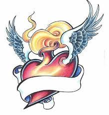 fire vessel stripe heart tattoo design best tattoo designs