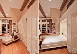 How To Build A Built In Bookcase Into A Wall Maximize Small Spaces Murphy Bed Design Ideas