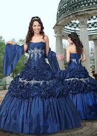 royal dark blue princess wedding dresses sang maestro