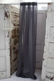 couture dreams solid linen gauze slate grey window curtain