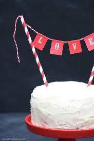 Valentine S Day Flags Valentine Cake Topper Love Pennant Flag Cake Topper Red Cake