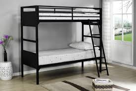 Inch Or Twin Size Black Metal Convertible Slat Bunk Bed With - Guard rails for bunk beds